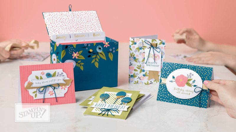 Perennial Birthday project kit with wendy lee,stampin up, handmade,stamping,#creativeleeyours,creatively yours,creative-lee yours, birthday cards, kit, quick & easy,SU,SUcards,Perennial Birthday stamp set