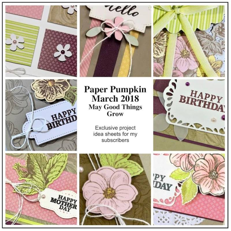 March 2018 may good things grow Paper Pumpkin Kit by wendy lee, stampin up, handmade cards, rubber stamps, stamping, kit, subscription, floral,spring cards, thank you, congrats, friend, #creativeleeyours,creatively yours,creative-lee yours,SU, SU cards