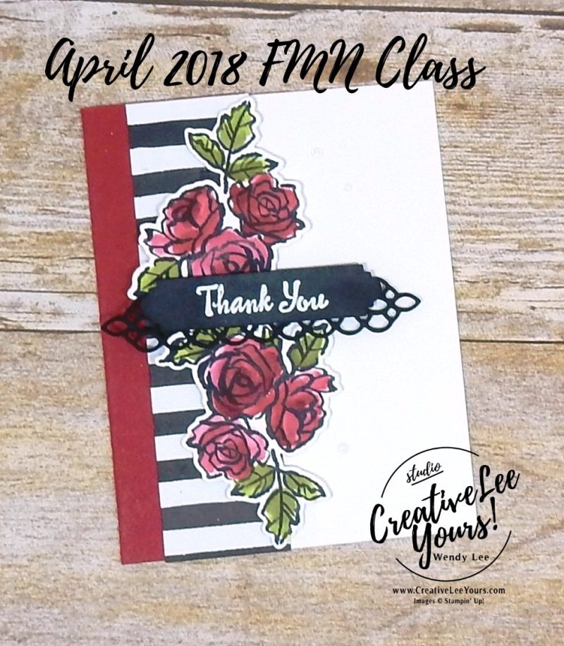 Thank You Petals by Wendy Lee, Stampin Up, stamping, handmade card, friend, mothers day, birthday, #creativeleeyours, creatively yours, creative-lee yours, April 2018 FMN card class, forget me not, petal palette stamp set, SU, SU cards, rubber stamps,
