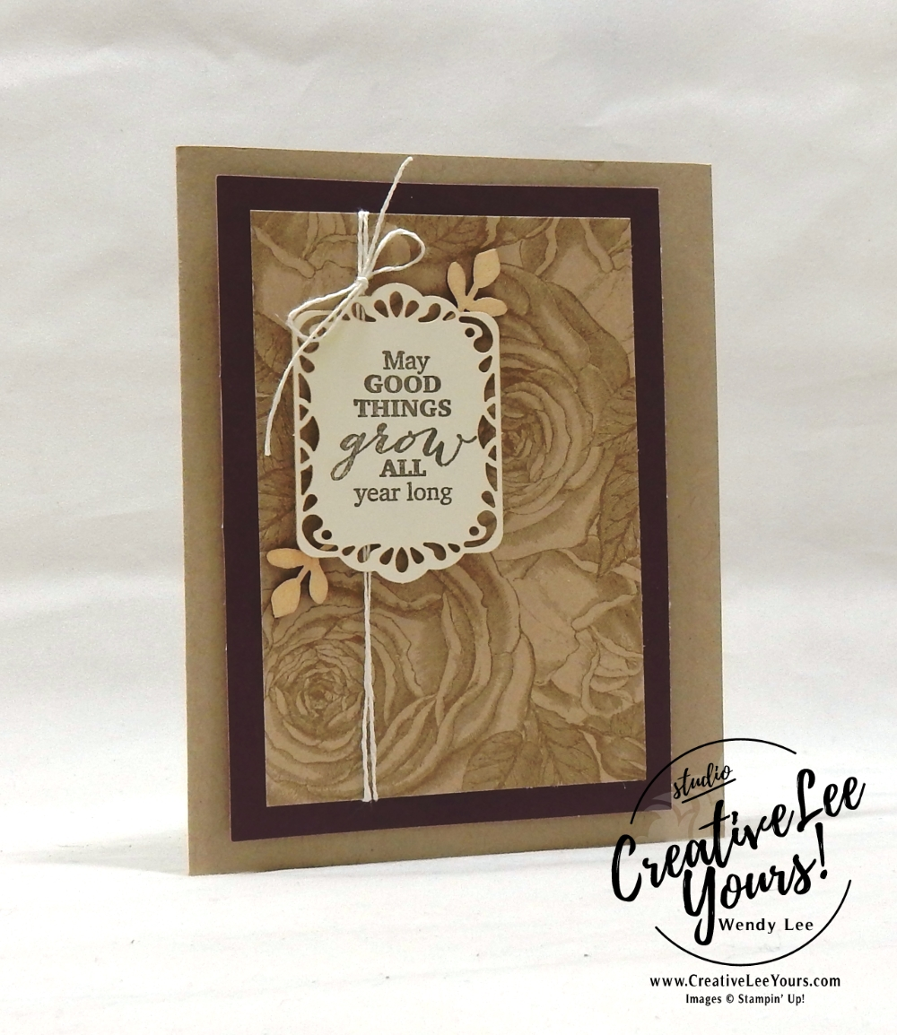 March 2018 May Good Things Grow Paper Pumpkin Kit by wendy lee, stampin up, handmade cards, rubber stamps, stamping, kit, subscription, floral, spring cards, vintage, beautiful, birthday, thank you, congrats, friend, #creativeleeyours, creatively yours, creative-lee yours, SU, SU cards,alternate