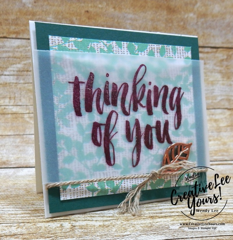 Natures Poem Gift Set-For The Love of Creating Blog Hop with Wendy Lee, stampin up, stamping, handmade, rooted in nature stamp set, notecards, special occasion, pizza box, SU, sneak peek, masculine