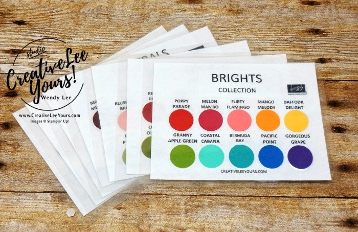su, color chart with wendy lee, 2018-2019 Annual catalog, stampin up, #creativeleeyours, creatively yours, creative-lee yours, rubberstamps, handmade cards, stamping, FREE printable pdf