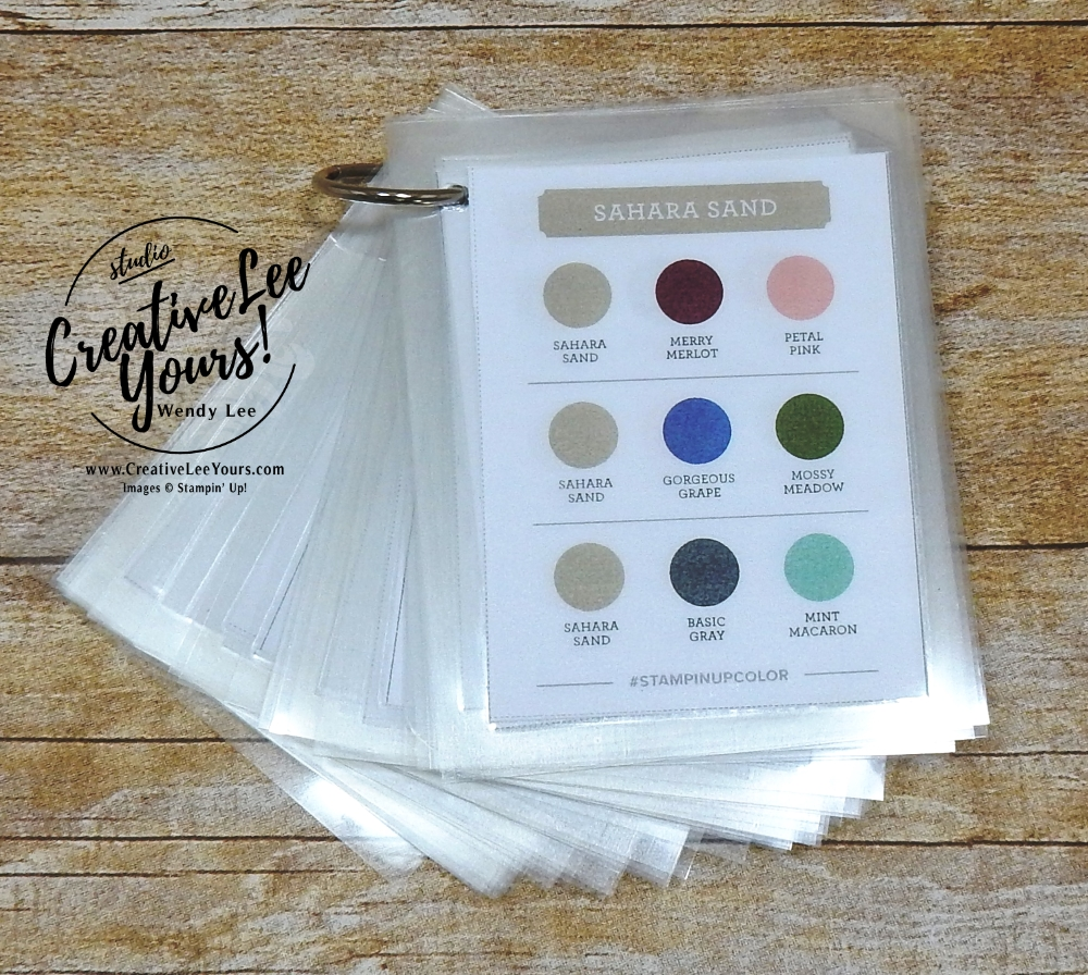 su, color chart with wendy lee, 2018-2019 Annual catalog, stampin up, #creativeleeyours, creatively yours, creative-lee yours, rubberstamps, handmade cards, stamping, FREE printable pdf, color coach