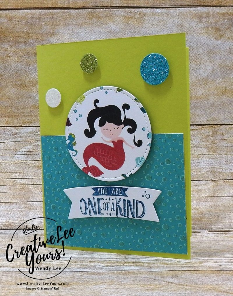 One of a Kind You by Jennifer Moretz, Wendy Lee, creatively yours, creative-lee yours, Stampin Up, stamping, handmade, SU, #creativeleeyours, magical day stamp set, diemonds team meeting, magical mates framelits