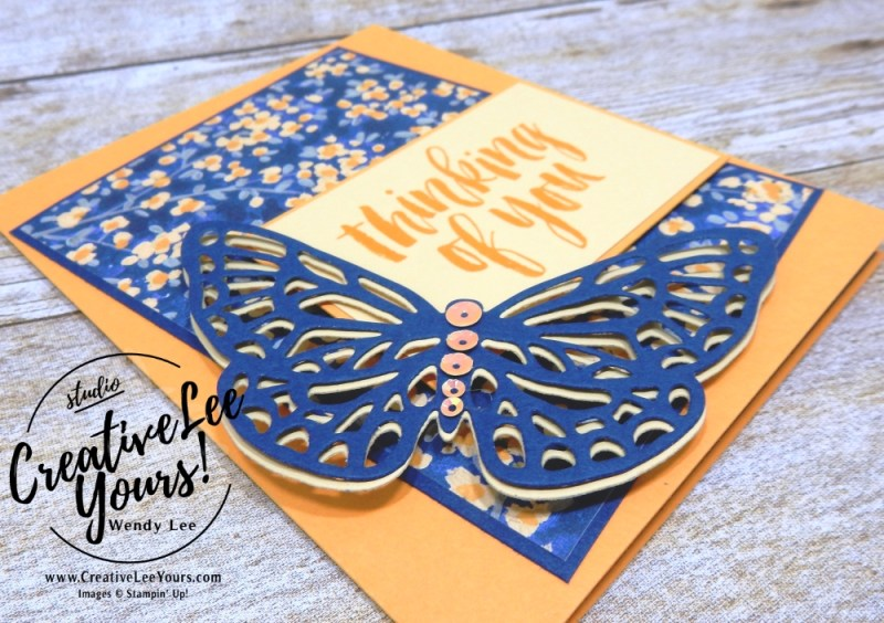 Thinking of you by sheila tatum, cardmaking, handmade card, rubber stamps, stamping, stampin up, wendy Lee, #creativeleeyours, creatively yours, creative-lee yours, SU, SU cards, rooted in nature stamp set, abstract impressions stamp set, birthday, diemonds team swap