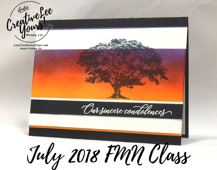 Burnished Sincere Condolences by wendy lee, Stampin Up, stamping, handmade card, friend, thank you, birthday, stmpathy, #creativeleeyours, creatively yours, creative-lee yours, July 2018 FMN card class, forget me not, SU, SU cards, rubber stamps,Rooted in Nature stamp set. Kindness & Compassion stamp set, waterfront stamp set, paper crafting, all occasions, FMN, embossing