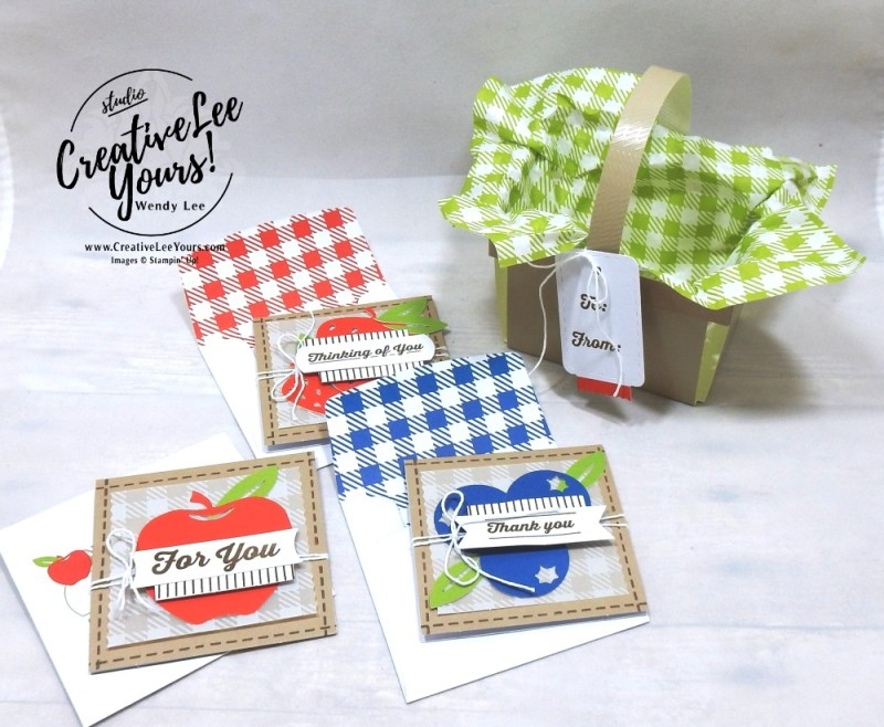 July 2018 picnic paradise Paper Pumpkin Kit by wendy lee, stampin up, handmade cards, rubber stamps, stamping, kit, subscription, #creativeleeyours, creatively yours, creative-lee yours, birthday, friend, thank you, congrats, alternate
