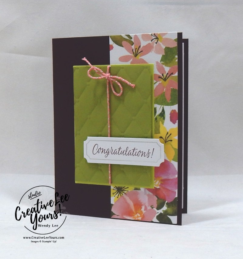 August 2018 Blissful Blooms Paper Pumpkin Kit by wendy lee, stampin up, handmade cards, floral, rubber stamps, stamping, kit, subscription, #creativeleeyours, creatively yours, creative-lee yours, birthday, friend, thank you, congrats, video, alternate projects, fast & easy, DIY, wedding