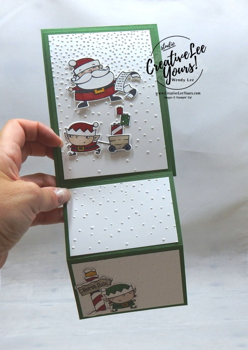 Santa's List Easel by aimee smith, wendy lee, Stampin Up, stamping, handmade card, #creativeleeyours, creatively yours, creative-lee yours, diemonds team, signs of santa stamp set, SU, SU cards, rubber stamps, demonstrator,DIY, christmas, business opportunity, easel fun fold