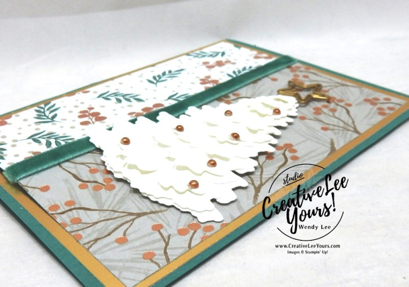 Christmas Warmth by Betsy Batten, wendy lee, Stampin Up, stamping, handmade card, #creativeleeyours, creatively yours, creative-lee yours, diemonds team, timeless tidings stamp set, SU, SU cards, rubber stamps, demonstrator,DIY, tree, christmas, in the woods framelit dies