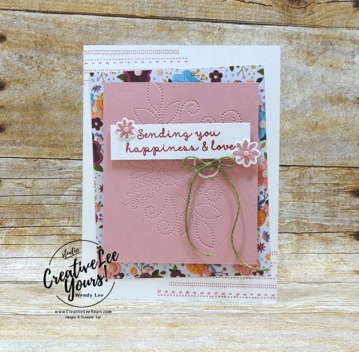 #OnStage, Diemonds team, wendy lee, stampin up, stamping, SU, #creativeleeyours, creatively yours, creative-lee yours, SU events, sbusiness opportunity, DIY, fellowship, Needle and thread stamp set, friend, birthday, congrats