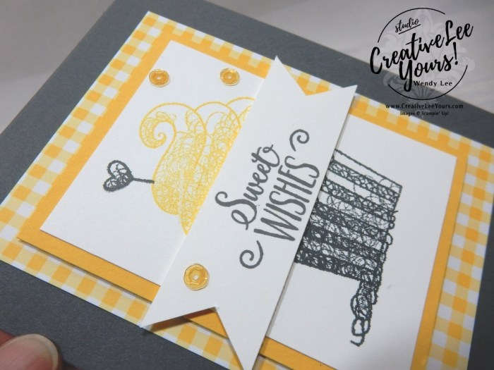 Sweet Wishes, wendy lee, Stampin Up, stamping, handmade card, friend, thank you, birthday, thinking of you, #creativeleeyours, creatively yours, creative-lee yours, SU, SU cards, rubber stamps, demonstrator, business, DIY, cling stamps, hello cupcake stamp set, fast & easy, diemonds team swap, #simplestamping, cupcake