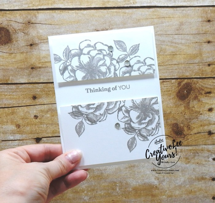 April 2019 Sentimental Rose Paper Pumpkin Kit by wendy lee, stampin up, handmade cards, rubber stamps, stamping, kit, subscription, #creativeleeyours, creatively yours, creative-lee yours, birthday, celebration, graduation, anniversary, alternate, bonus tutorial, fast & easy, DIY, #simplestamping, distinktive, flowers, roses