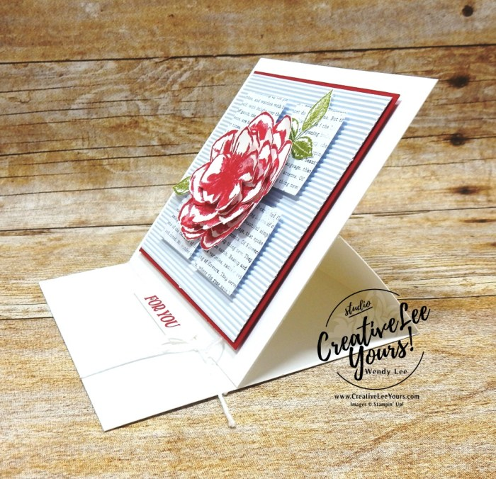 Sentimental Rose Easel, April 2019 Sentimental Rose Paper Pumpkin Kit, wendy lee, stampin up, SU, handmade cards, rubber stamps, stamping, kit, subscription, #creativeleeyours, creatively yours, creative-lee yours, mother's day, congratulations, thank you, birthday, wishes, video, bonus tutorial, fast & easy, DIY, #simplestamping, roses, distinktive, mom, paper crafting