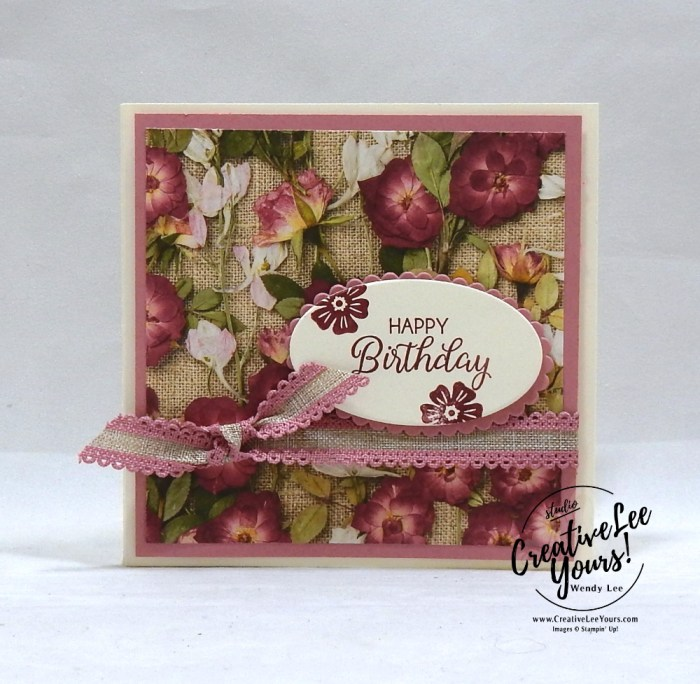 Pressed Petals Gift Card Holder by Jennifer Hamlin, Wendy Lee, stampin Up, SU, #creativeleeyours, hand made card, creativity, accomplishment, share, joy, customize, friend, birthday, hello, thanks, celebration, stamping, creatively yours, creative-lee yours, Beautiful Bouquet stamp set, fun fold, gift card, DIY, technique, patternpaper, flowers, Diemonds team meeting, business opportunity, home business