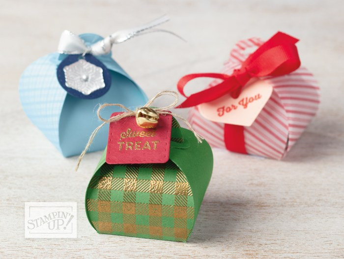 Mini Curvy Keepsakes Project with Wendy Lee, stampin Up, SU, #creativeleeyours, hand made card, tags, gifts, package, treats, friend, birthday, hello, thanks, celebration, best wishes, kindness, creatively yours, creative-lee yours, DIY, pattern paper, fast & easy, masculine, kids, ornament