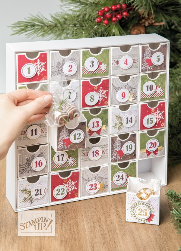 Christmas Countdown Calendar Class by wendy lee, advent calendar, home decor, Stampin Up, #creativeleeyours, wendy lee, creatively yours, creative-lee yours, stamping, paper crafting, patternpaper, celebration, paper crafts, handmade, treats, online class, SU, holiday, 3D, gifts, rubber stamps, crafts, holiday, christmas countdown stamp set, balloons
