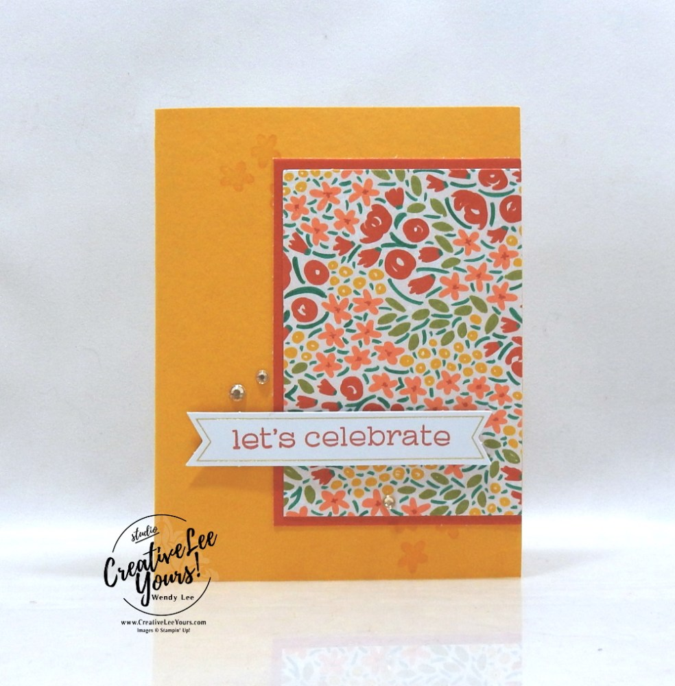 Let's Celebrate by Wendy Lee, December 2019 Paper Pumpkin Kit, stampin up, handmade cards, rubber stamps, stamping, kit, subscription, #creativeleeyours, creatively yours, creative-lee yours, celebration, smile, thank you, birthday, sorry, thinking of you, love, valentine, congrats, lucky, feel better, sympathy, get well, alternate, bonus tutorial, fast & easy, DIY, #simplestamping, card kit, flowers