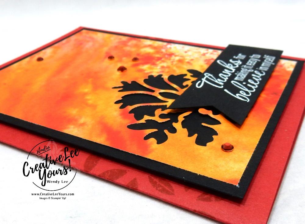 Tasteful Thanks by Wendy Lee, Tutorial, stampin Up, SU, #creativeleeyours, handmade card, friend, celebration, thank you, thinking of you, believe, stamping, creatively yours, creative-lee yours, DIY, birthday, embossing, papercrafts, international highlights, kylie bertucci, blog hop, #makeacardsendacard ,#makeacardchangealife, tasteful textures stamp set, retiring products, retiring stamps, #stampinupdemonstrator , #cardmaking #handmadecard #rubberstamps