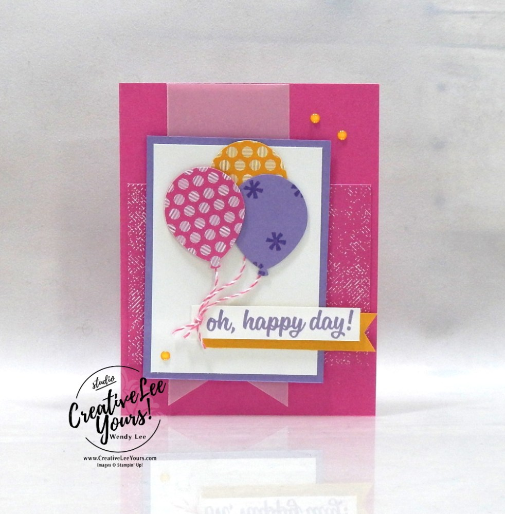 Happy Day Balloons by Wendy Lee, May 2020 Paper Pumpkin Kit, A kit in color, stampin up, handmade cards, rubber stamps, stamping, kit, subscription, #creativeleeyours, creatively yours, creative-lee yours, celebration, smile, thank you, birthday, love, congrats, rainbow, clouds, alternate, bonus tutorial, fast & easy, DIY, #simplestamping, card kit, subscription, craft kit, alternate, #papercrafts , #papercraft , #papercrafting , #papercraftingsupplies, #papercraftingisfun, #makeacardsendacard ,#makeacardchangealife , #paperpumpkin ,#paperpumpkinalternates , #paperpumpkinalternative ,#paperpumpkinalternatives, #papercraftingkit
