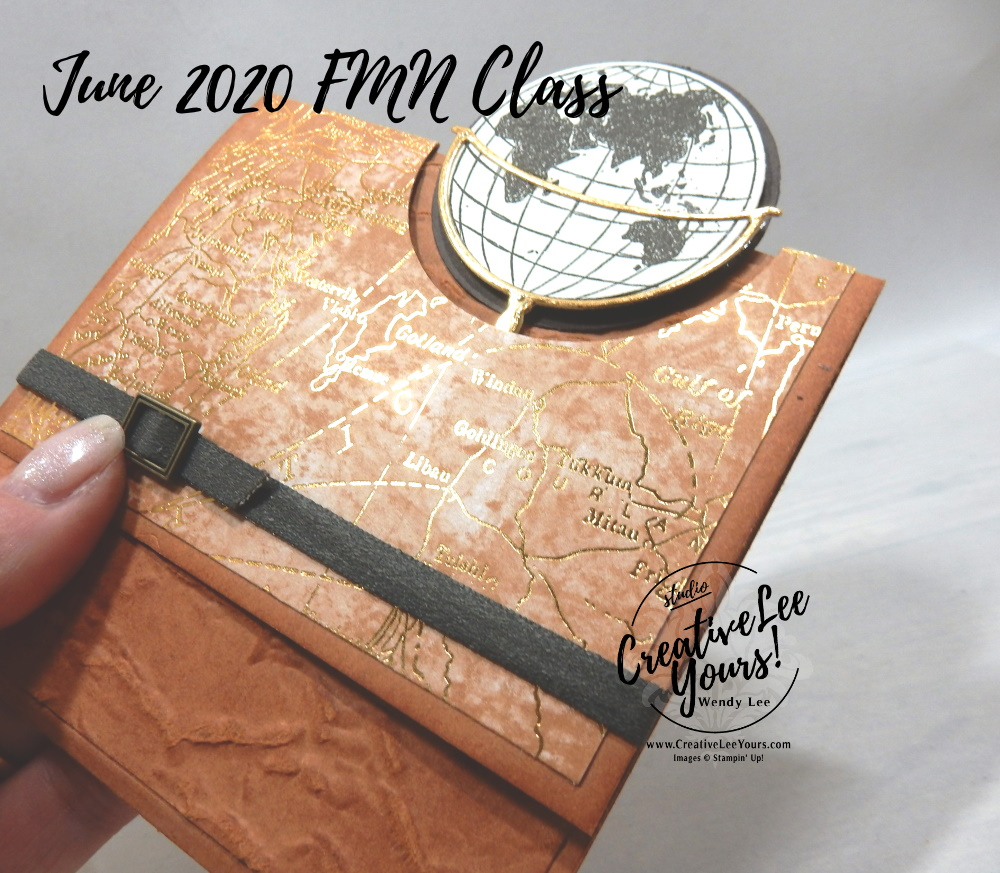 Beautiful World Flip Flap by wendy lee, stampin up, stamping, SU, #creativeleeyours, creatively yours, creative-lee yours, #cardmaking #handmadecard #rubberstamps #stamping, friend, celebration, congratulations, thank you, hello, birthday, stamping, DIY, paper crafts, #papercrafting , #papercraftingsupplies, #papercraftingisfun , tutorial, FMN, forget me not, card club, class, #makeacardsendacard ,#makeacardchangealife, faux suede technique, , DSP, pattern paper, loveitchopit, masculine, beautiful world stamp set, world map dies, old world paper, world of good suite