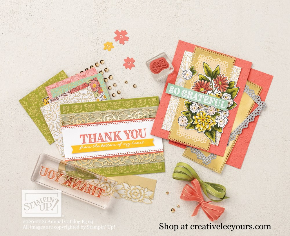 Ornate Garden suite, Stampin' Up! Video with wendy lee, Ornate Style stamp set, Ornate thanks stamp set, Stampin Up, #creativeleeyours, creatively yours, #stampinupdemonstrator ,#cardmaking #handmadecard #rubberstamps #stamping, SU, SUO, creative-lee yours, #DIY, #papercrafts , #papercraft , #papercrafting , fellowship, video, friend, birthday, celebration, hello, thank you, #makeacardsendacard ,#makeacardchangealife, #papercraftingsupplies, #papercraftingisfun, #simplestamping, family, cheer, smile, grateful