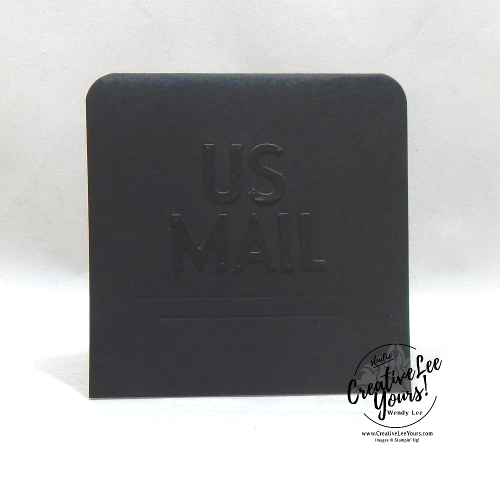 US Mail by Wendy Lee, stampin up, handmade cards, rubber stamps, stamping, #creativeleeyours, creatively yours, creative-lee yours, thank you, Christmas, congrats, DIY, #DIY, #papercrafts , #papercraft , #papercrafting , #papercraftingsupplies, #papercraftingisfun, #papercraftingideas, #makeacardsendacard ,#makeacardchangealife, Poinsettia Petals stamp set, Playful Alaphabet, mail carrier, Delivery driver