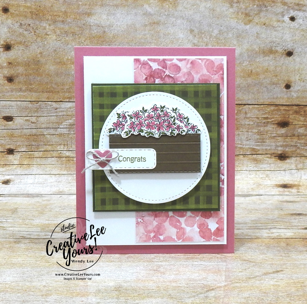 Crate of Flowers by Wendy Lee, stampin Up, SU, #creativeleeyours, handmade card, friend, celebration , birthday, congrats, friend, birthday, stamping, creatively yours, creative-lee yours, DIY, papercrafts, rubberstamps, #stampinupdemonstrator , #papercrafts , #papercraft , #papercrafting , #papercraftingsupplies, #papercraftingisfun, video , Hydrangea Haven stamp set, #tutorial ,#tutorials, thank you, #live, Facebook live, hydrangea hill