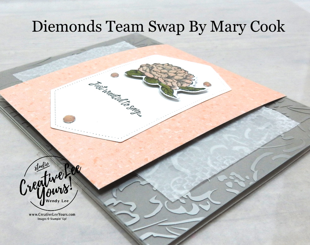 Mother's Day Fun Fold by Mary Cook, Wendy Lee, Prized Peony stamp set, Many Messages stamp set, Friendly Flamingo stamp set, Something to Celebrate stamp set, stampin up, stamping, SU, #creativeleeyours, creatively yours, creative-lee yours, #cardmaking #handmadecard #rubberstamps #stamping, friend, celebration, congratulations, thank you, hello, birthday, warm wishes, Mothers Day, stamping, DIY, paper crafts, #papercrafting , #papercraftingsupplies, #papercraftingisfun , #makeacardsendacard ,#makeacardchangealife, #diemondsteam, #businessopportunity, #diemondsteamswap, flowers, fun fold