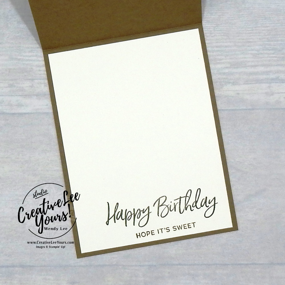 Yummy Masculine Birthday by Wendy Lee, stampin Up, SU, #creativeleeyours, handmade card, friend, celebration , birthday, congrats, stamping, creatively yours, creative-lee yours, DIY, papercrafts, rubberstamps, #stampinupdemonstrator , #papercrafts , #papercraft , #papercrafting , #papercraftingsupplies, #papercraftingisfun, video , sweet ice cream stamp set, Nothings better than stamp set,#tutorial ,#tutorials, thank you, #live, Facebook live, #thankyoucard,#tutorial ,#tutorials, fudgesicle