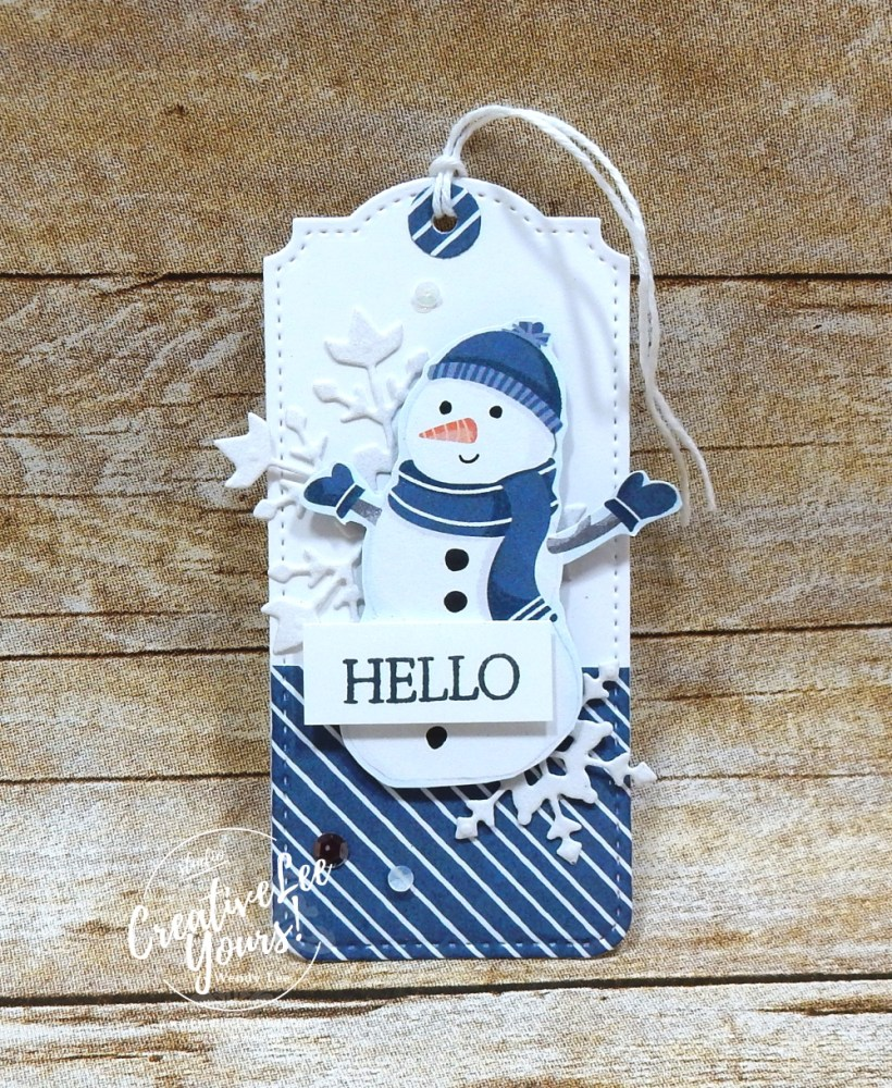 Hello Tags by Wendy Lee, #creativeleeyours , #stampinup , #su , #stampinupdemonstrator , #cardmaking, #handmadecard, #rubberstamps, #stamping, #DIY, #papercrafts , #papercraft , #papercrafting , #papercraftingsupplies, #papercraftingisfun, #papercraftingideas, #makeacardsendacard ,#makeacardchangealife , Stampers Showcase Blog Hop, Create with Friends stamp set, winter, penguins, snowman, tags, friend, ,#tutorial ,#tutorials ,#jd21catalog, #SAB2021, penguin playmate