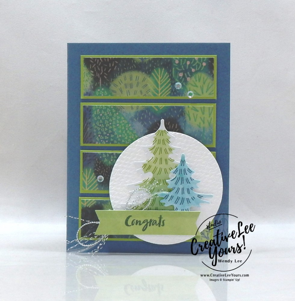 Congrats by Wendy Lee, July 2021 Paper Pumpkin Kit, FMN Bonus card, adventure begins, nature, outdoors, stampin up, handmade cards, rubber stamps, stamping, kit, subscription, #creativeleeyours, creatively yours, creative-lee yours, celebration, smile, thank you, birthday, sorry, thinking of you, love, congrats, lucky, feel better, sympathy, get well, grateful, comfort, encouragement, hearts, valentine, anniversary, wedding, appreciation, bonus tutorial, fast & easy, DIY, #simplestamping, card kit, subscription, craft kit, #paperpumpkinalternates , #paperpumpkinalternative ,#paperpumpkinalternatives, #papercraftingkit