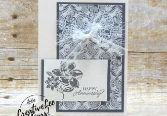 Elegant Anniversary by Jennifer Hamlin, Wendy Lee, Elegantly Said stamp set, stampin up, stamping, SU, #creativeleeyours, creatively yours, creative-lee yours, #cardmaking #handmadecard #rubberstamps #stamping, friend, celebration, congratulations, anniversary, wedding, thank you, hello, birthday, warm wishes, stamping, DIY, paper crafts, #papercrafting , #papercraftingsupplies, #papercraftingisfun , #makeacardsendacard ,#makeacardchangealife, #diemondsteam, #businessopportunity, #diemondsteamswap