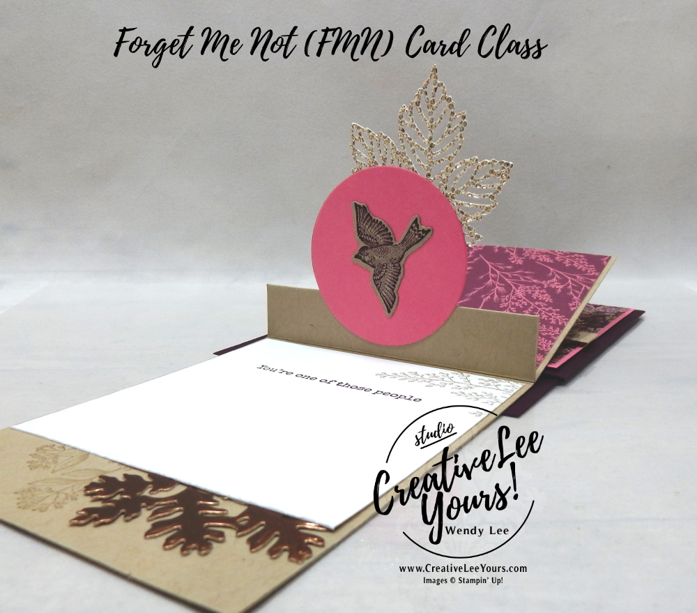 Hidden Flap Pop-Up by wendy lee, Beauty of Tomorrow stamp set, Beautiful Leaves, Gorgeous Leaves, Owls, Fall, Autumn, gratitude, stampin up, stamping, SU, #creativeleeyours, creatively yours, creative-lee yours, #cardmaking, #handmadecard, #rubberstamps #stamping, friend, thinking of you, sympathy, thank you, birthday, stamping, DIY, paper crafts, welcome, #papercrafting , #papercraftingsupplies, #papercraftingisfun , FMN, forget me not, ,#cardclub ,#cardclasses ,#onlinecardclasses , tutorial ,#tutorials ,#funfoldcards ,#funfoldcard ,#makeacardsendacard ,#makeacardchangealife, hidden flap pop up card