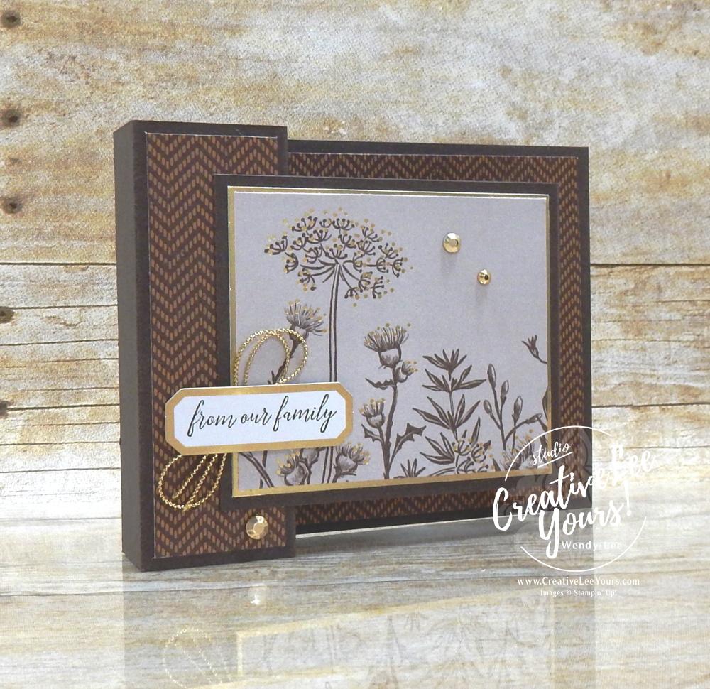 Double Box Fun Fold by Wendy Lee, #creativeleeyours , #stampinup , #su , #stampinupdemonstrator , #cardmaking, #handmadecard, #rubberstamps, #stamping, #DIY, #papercrafts , #papercraft , #papercrafting , #papercraftingsupplies, #papercraftingisfun, #papercraftingideas, #makeacardsendacard ,#makeacardchangealife , Stampers Showcase Blog Hop, Heartfelt Wishes stamp set, friend, ,#tutorial ,#tutorials , #funfoldcards ,#funfoldcard,#blackberrybeauty, #simplestamping,