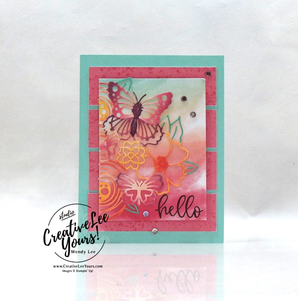 Hello by Wendy Lee, August 2021 Paper Pumpkin Kit, Hope Box, nature, butterflies, stampin up, handmade cards, rubber stamps, stamping, kit, subscription, #creativeleeyours, creatively yours, creative-lee yours, celebration, smile, thank you, birthday, sorry, thinking of you, love, congrats, lucky, feel better, butterflies, sympathy, get well, grateful, comfort, encouragement, hearts, valentine, anniversary, wedding, appreciation, bonus tutorial, fast & easy, DIY, #simplestamping, card kit, subscription, craft kit, #paperpumpkinalternates , #paperpumpkinalternative ,#paperpumpkinalternatives, #papercraftingkit