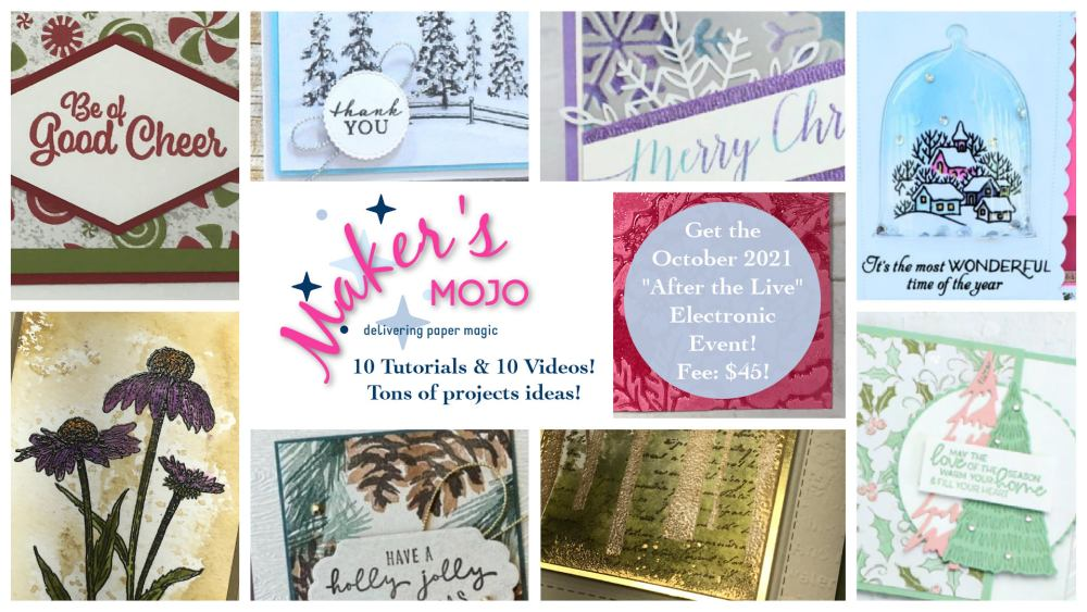 Makers mojo with Wendy Lee, creative escape, stampin Up, SU, #creativeleeyours, handmade card, virtual class, friend, celebration, thank you, stamping, creatively yours, creative-lee yours, DIY, birthday, rubberstamps, #stampinupdemonstrator , #papercrafts , #papercraft , #papercrafting , #papercraftingsupplies, #papercraftingisfun, Facebook live, video , #cardmaking ,#onlinecardclasses ,#funfoldcards ,#funfoldcard ,#tutorial ,#tutorials ,#technique ,#techniques, #papercraftingideas, #makeacardsendacard ,#makeacardchangealife, paper magic, #makersmojo