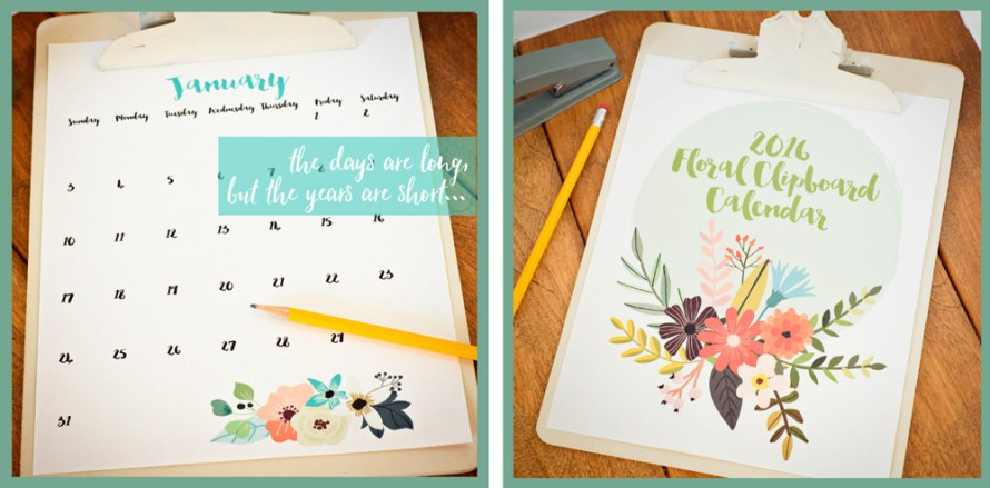free printable calendar and organizational print outs