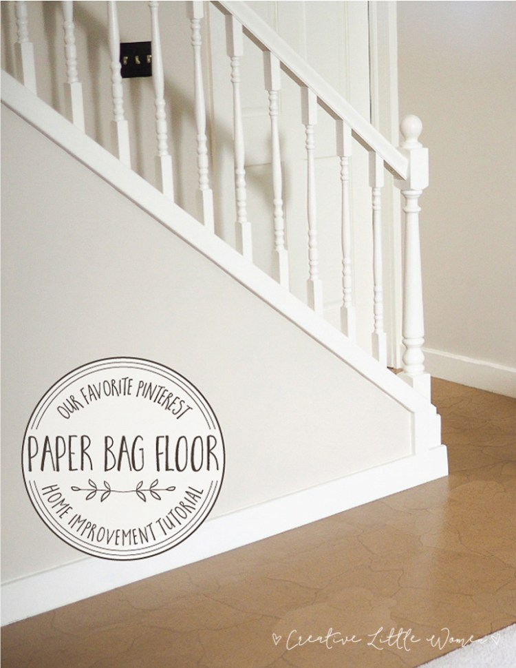 Paper floor. Inexpensive and beautiful diy flooring option.
