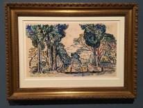 Les-Cyprès-de-Sainte-Anne-Saint-Tropez-1905-aquarelle-preparatory-drawing