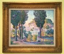Les-Cyprès-de-Sainte-Anne-(Saint-Tropez)-1905-oil-on-canvas