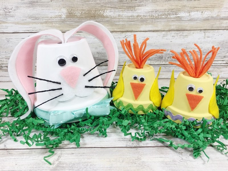 Create Cute Chick and Bunny Clay Pots in Just 15 Minutes with Creatively Beth!