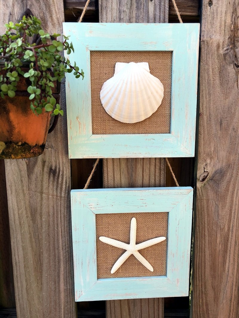 Coastal Inspired Burlap Decor by Creatively Beth for Craft Lightning