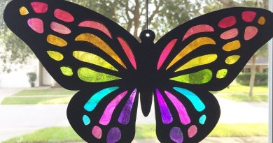 Kids Craft Butterfly Sun Catchers with Cricut and Tombow by Creatively Beth