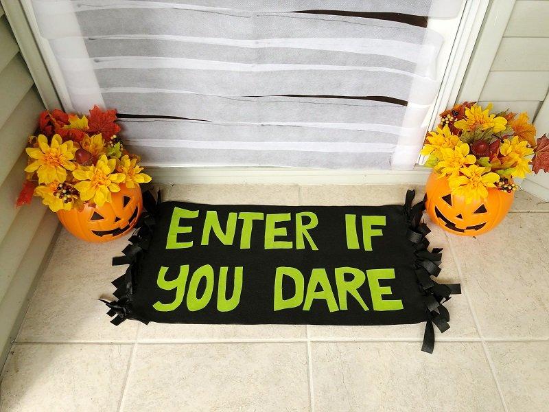Creatively Beth Halloween doormat DIY craft