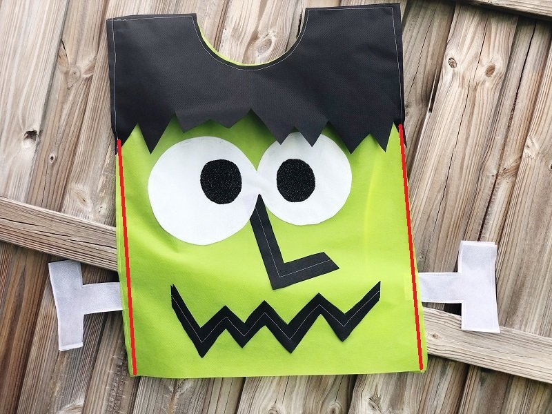 Creatively Beth Last minute kids Halloween costume stitch lines