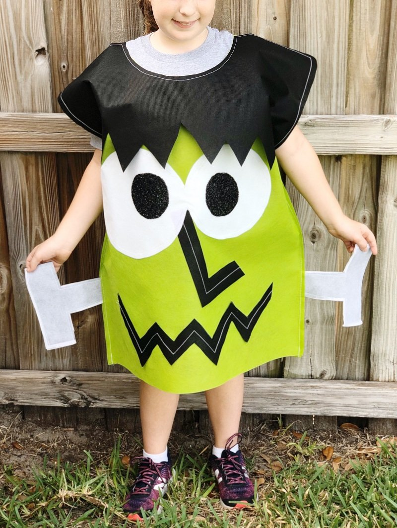 Creatively Beth quick and easy Frankenstein Costume for kids