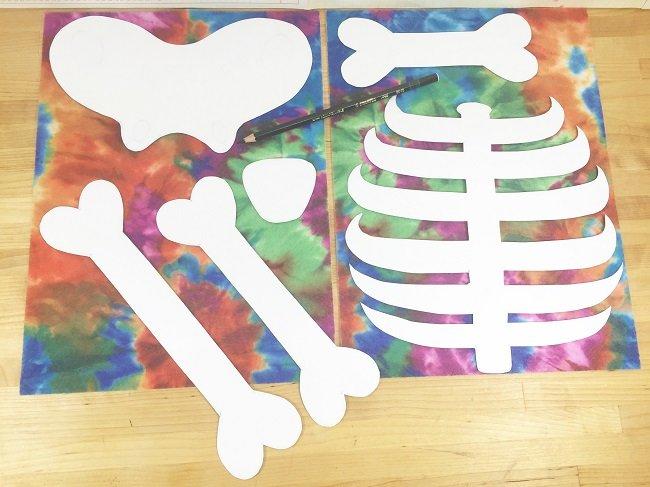 Free printable patterns to create skeleton costume
