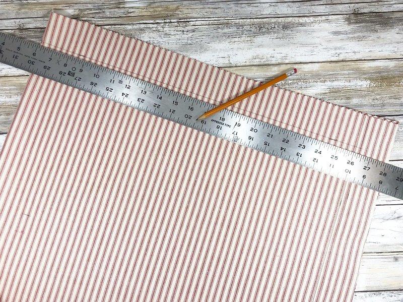 Creatively Beth Measure and cut fabric for pillow #ffwpillowparty2019 #creativelybeth #polyfil #fairfieldworld
