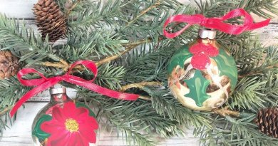 Easy Hand-Painted Glass Ornaments A 30 Minute DIY #creativelybeth #decoart #handpainted #christmasornaments #handmade